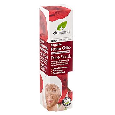 Dr Organic Rose Otto Face Scrub 125ml