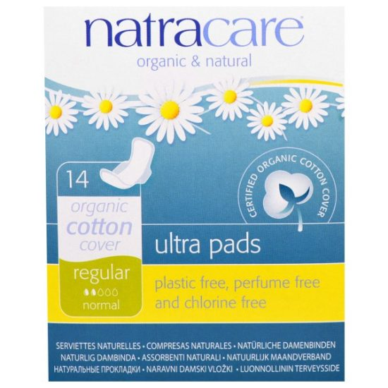 Natracare, Ultra Pads, Organic Cotton Cover, Regular, Normal, 14 Pads